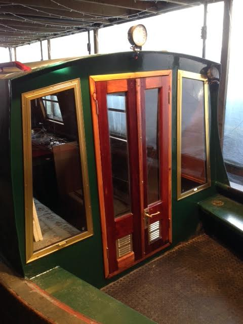 Fitted revamped doors and new bulkhead windows on Holly
